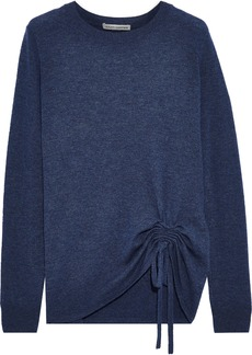 Autumn Cashmere Woman Ruched Cashmere Sweater Blue