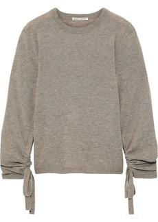 Autumn Cashmere Woman Ruched Mélange Cashmere Sweater Mushroom