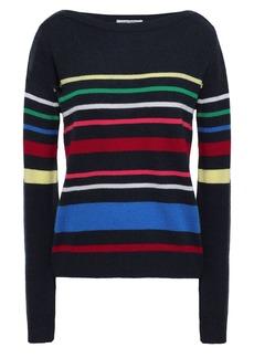 Autumn Cashmere Woman Striped Cashmere Sweater Midnight Blue