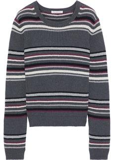 Autumn Cashmere Woman Striped Cotton Sweater Dark Gray