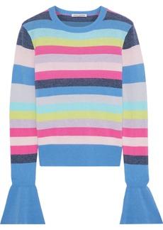 Autumn Cashmere Woman Striped Ribbed Cashmere Sweater Multicolor