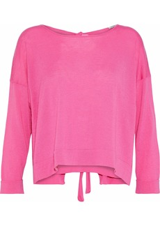 Autumn Cashmere Woman Tie-back Cashmere Sweater Bright Pink