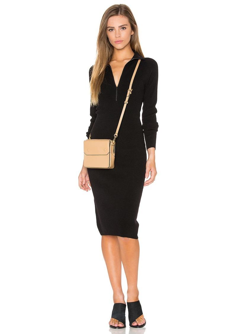 Autumn Cashmere Zip Mock Neck Sweater Dress