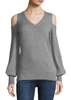 Autumn Cashmere Cashmere Cold-Shoulder Sweater