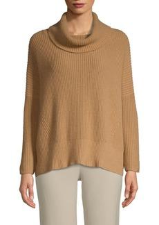 Autumn Cashmere Cowlneck Elbow-Patch Sweater