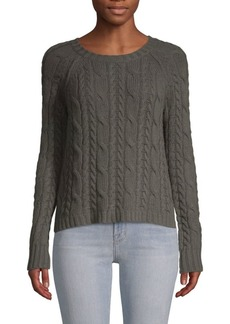 Autumn Cashmere Cropped Cable-Knit Sweater