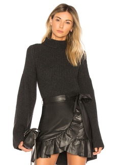 Autumn Cashmere Cropped Mock Sweater