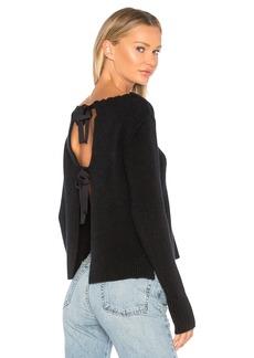 Autumn Cashmere Distressed Crew Sweater