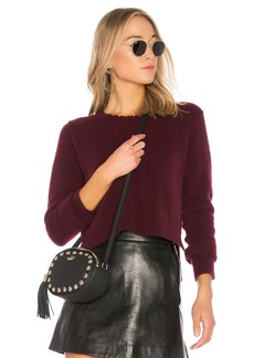 Autumn Cashmere Distressed Crop Sweater