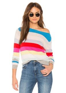 Autumn Cashmere Rainbow Stripe Sweater