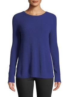 Autumn Cashmere Reversible Crossover-Back Crewneck Cashmere Sweater