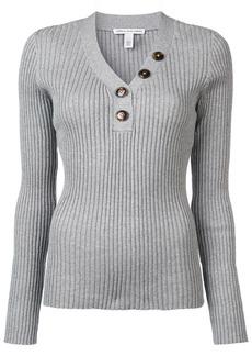 Autumn Cashmere rib button up sweater