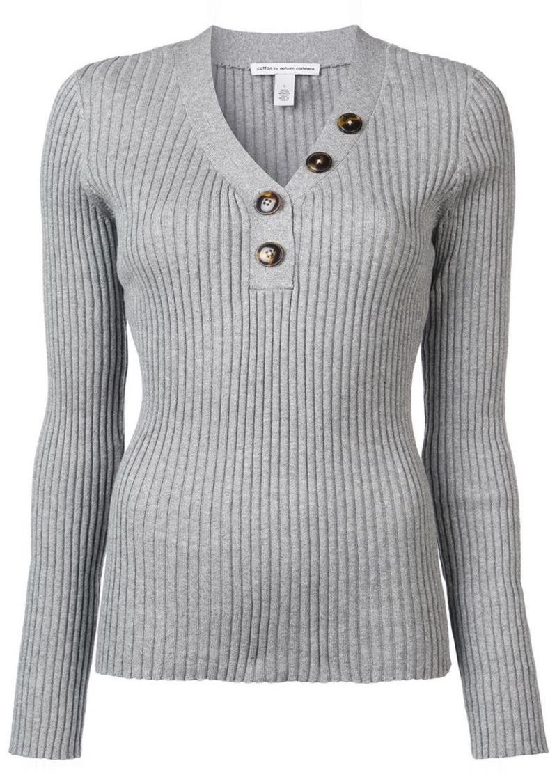 0a58bba6c5b rib button up sweater