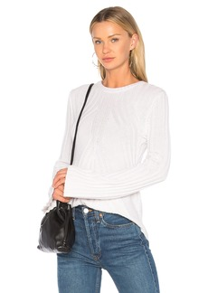 Autumn Cashmere Ribbed Flare Sweater