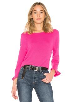 Autumn Cashmere Ruffle Sleeve Sweater