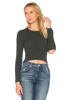Autumn Cashmere Slash Elbow Cropped Sweater