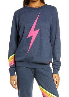 Aviator Nation Bolt Chevron Stripe Sweatshirt