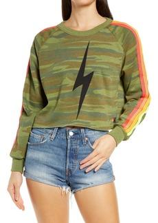 Aviator Nation Bolt Crop Sweatshirt