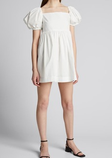 Azeeza Kam Puff-Sleeve Mini Dress