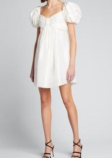 Azeeza Saira Puff-Sleeve Short Dress