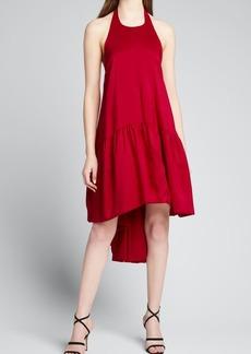 Azeeza Winston Silk Halter Cocktail Dress