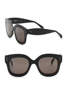 Azzedine Alaia 50MM Round Sunglasses