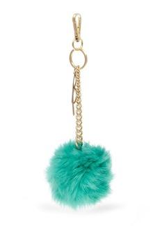 B Brian Atwood Abobbe Rabbit Fur Pom Pom Bag Charm
