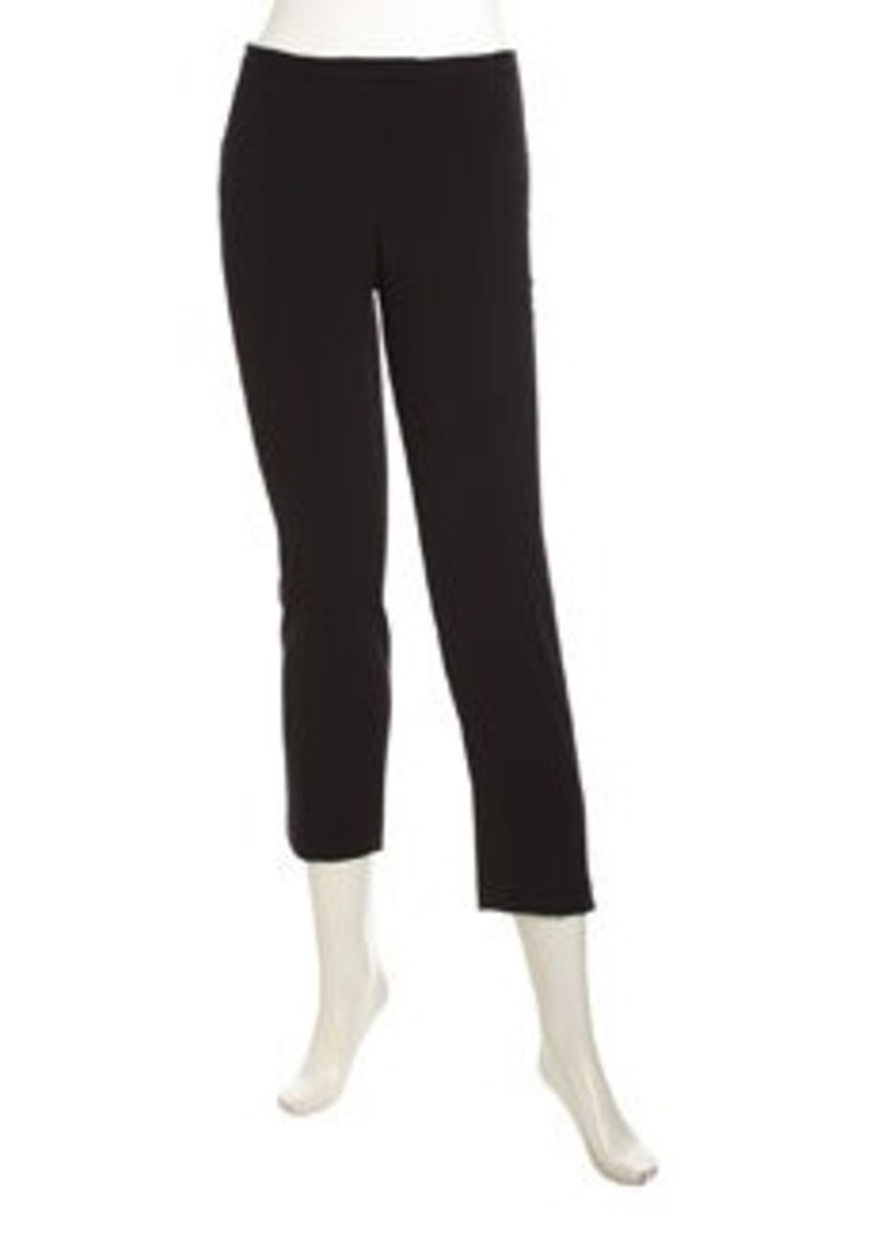 Isaac Mizrahi Stretch-Knit Ankle Pants, Black