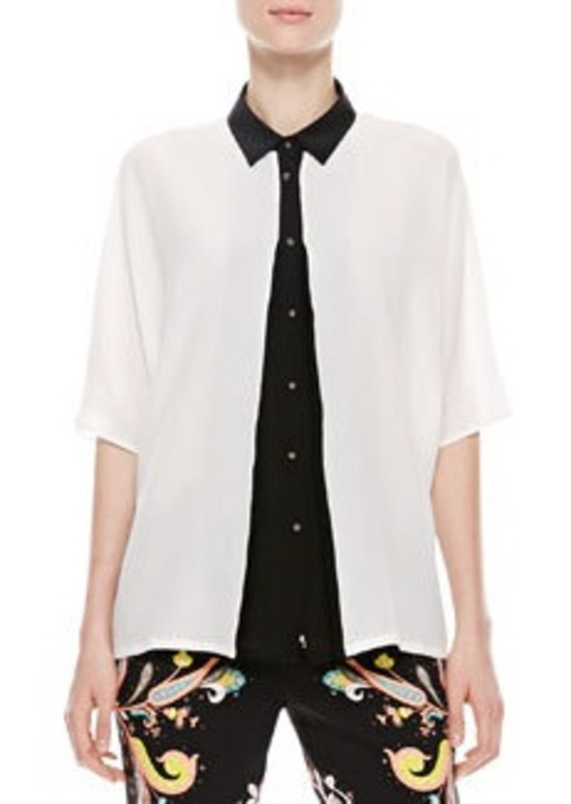 Etro Kimono Top, White/Black   Kimono Top, White/Black