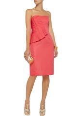 Lela Rose Pleated satin dress