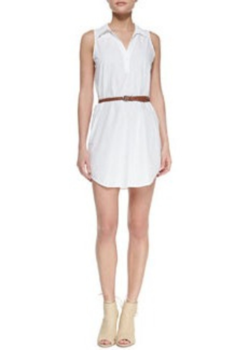 Joie Darlena Sleeveless Belted Cotton Shirtdress   Darlena Sleeveless Belted Cotton Shirtdress