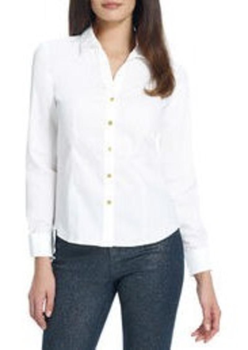 Jones New York No Iron Easy Care Fitted Shirt Dress