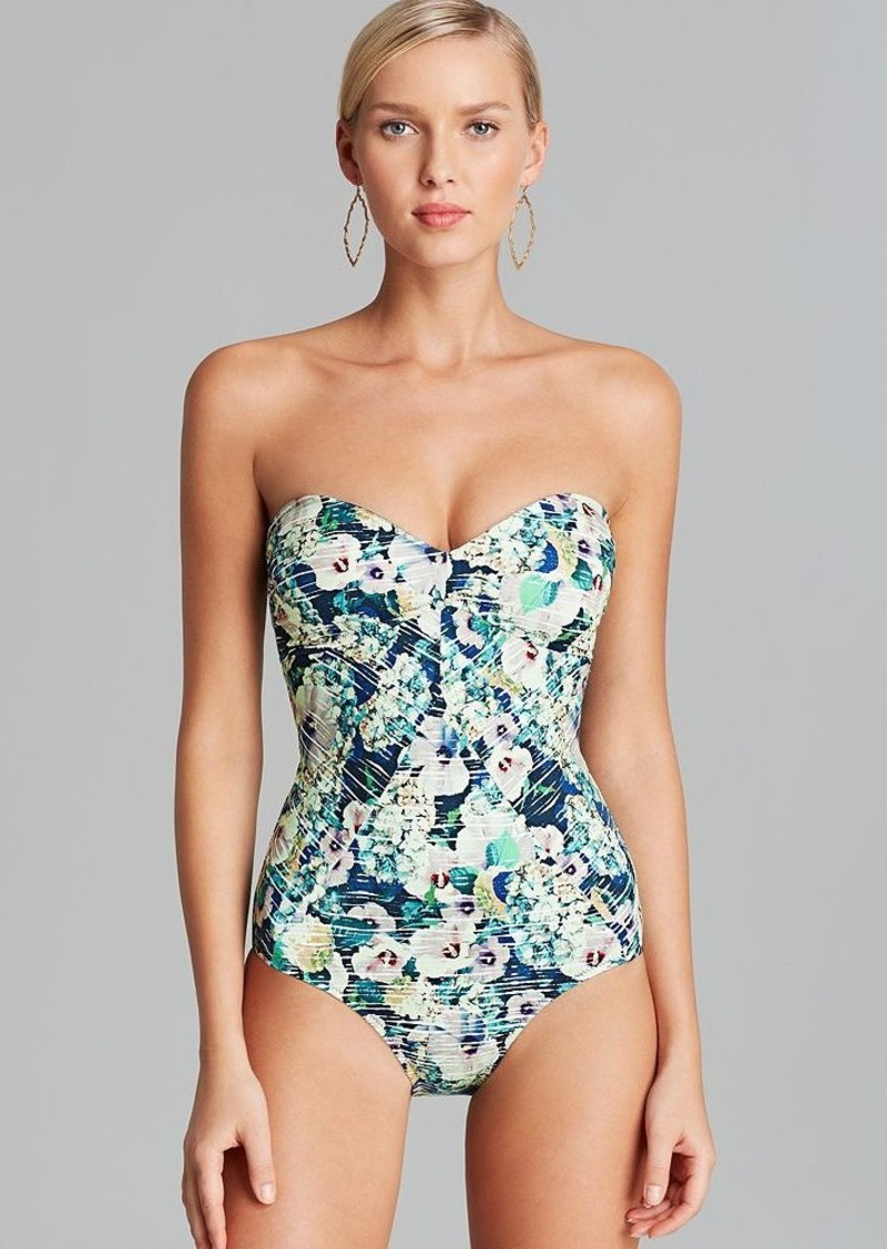 Nanette Lepore Hula Hibiscus Seductress One Piece Swimsuit