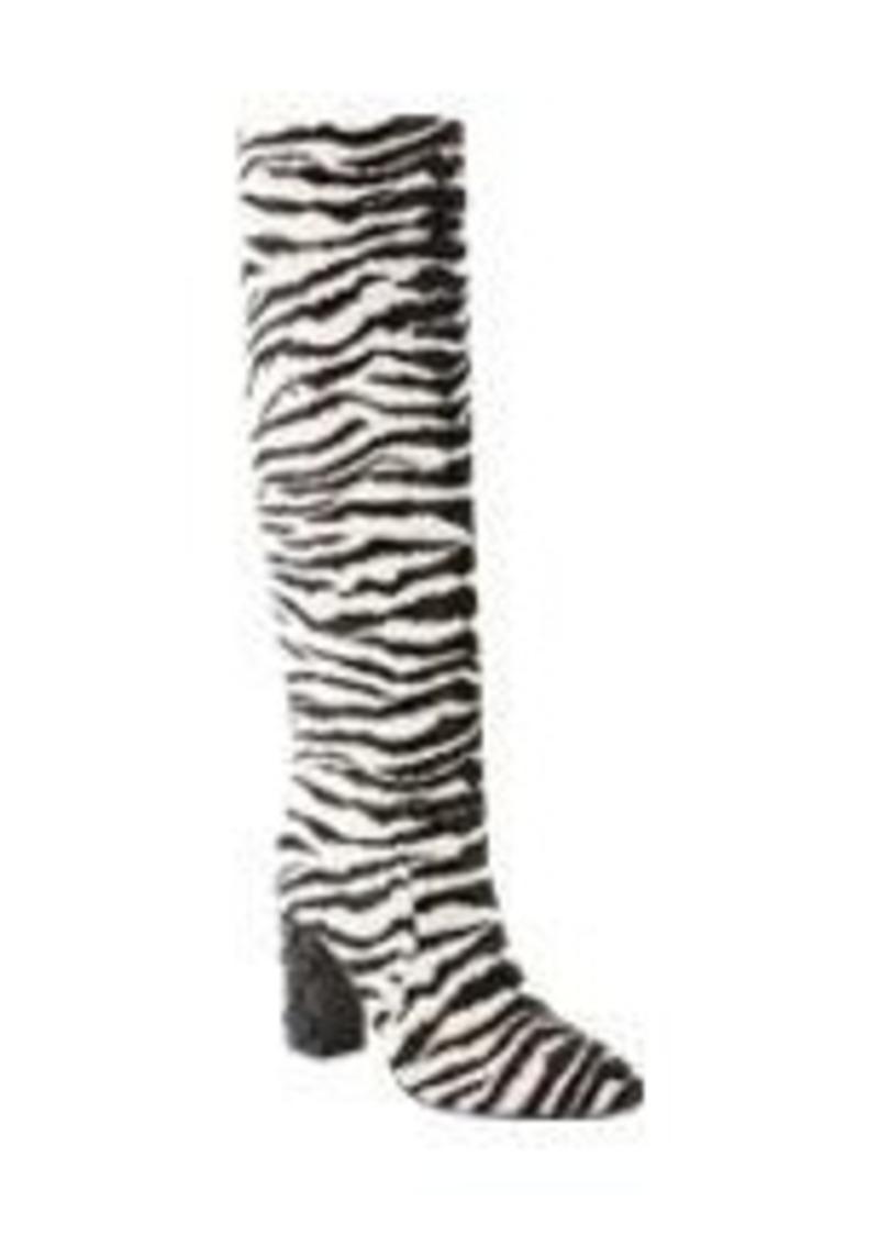 Lanvin Embellished Tiger-Print Knee Boots