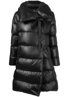 Bacon asymmetric padded coat