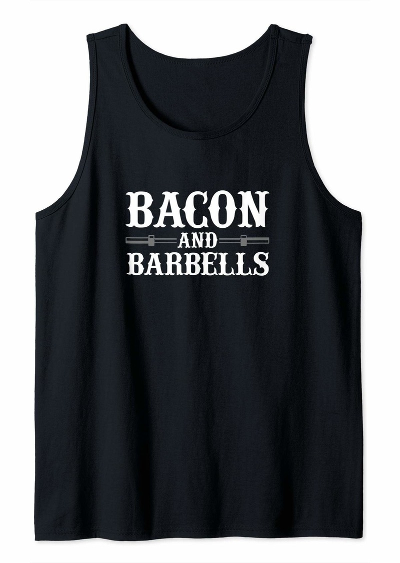 Bacon And Barbells Tank Top