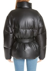 Bacon Eco Boo Faux Leather Down Puffer Jacket