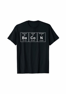 Bacon Has Chemistry Funny Periodic Table of Elements Tee T-Shirt