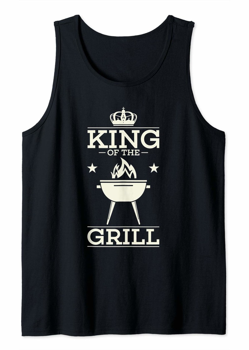Bacon BBQ Gift Print Mens Grilling King Of The Grill Tank Top