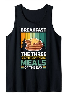 Bacon Breakfast In Bed Foodie Egg Three Tank Top