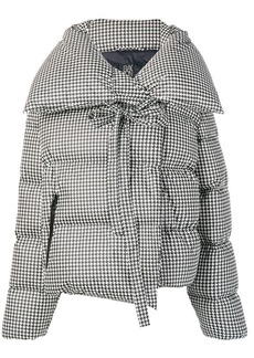 Bacon houndstooth padded jacket