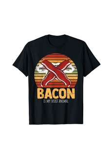 Retro Bacon Is My Spirit Animal Meat And Bacon Lover BBQ T-Shirt
