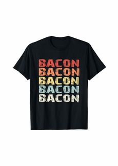 Retro Bacon Lover Gifts for Men and Women T-Shirt