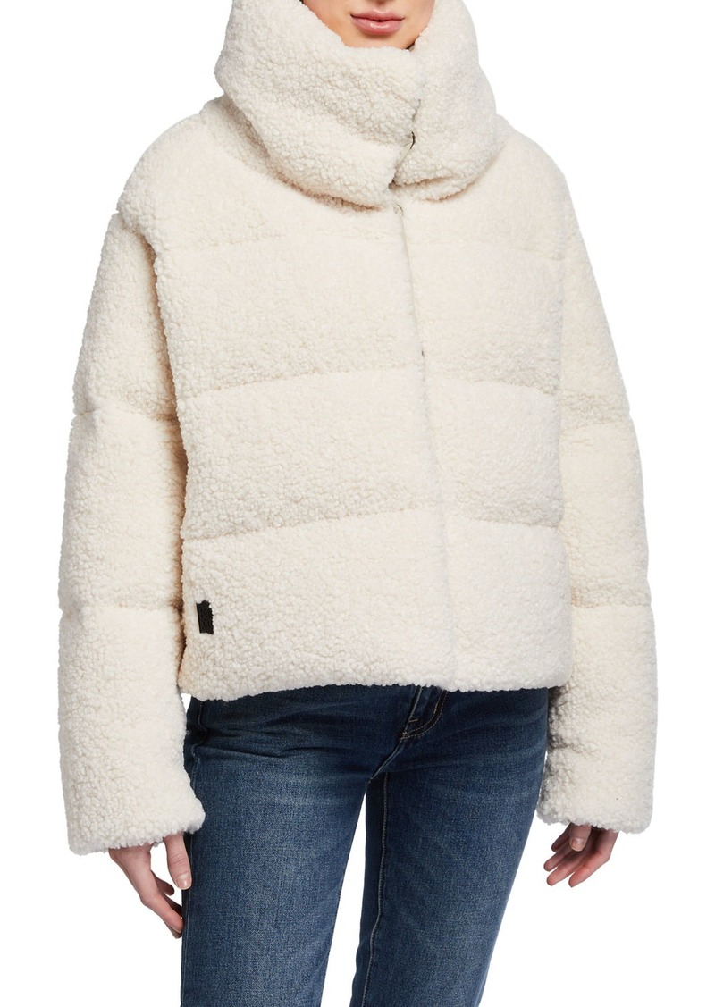 Bacon Reversible Faux Fur Down Coat