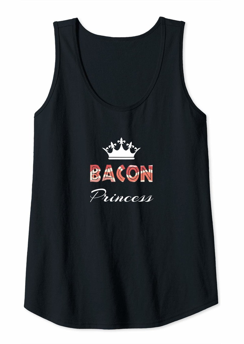 Womens The Bacon Princess Gift Tank Top