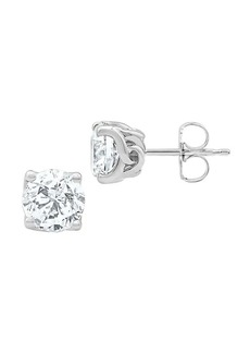 Badgley Mischka 14K White Gold & 3 TCW Lab-Grown Solitaire Stud Earrings
