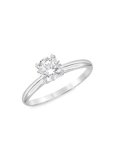 Badgley Mischka 14K White Gold & 1 TCW Lab-Grown Diamond Engagement Ring