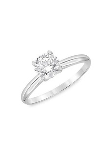 Badgley Mischka 14K White Gold & 1.50 TCW Lab-Grown Diamond Solitaire Engagement Ring