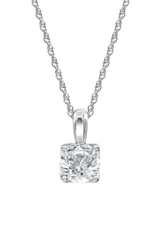 Badgley Mischka 14K White Gold & 1 TCW Lab-Grown Diamond Solitaire Pendant Necklace