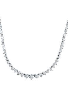 Badgley Mischka 14K White Gold & 15 TCW Lab-Grown Diamond Tennis Necklace
